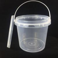 wholesale food grade round  2L plastic bucket
