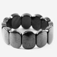 Shungite Bracelet with Big Oval Beads