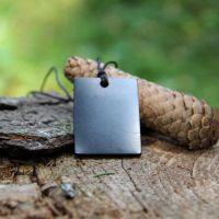 Protective shungite stone pendant