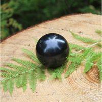 Polished shungite sphere 50 mm