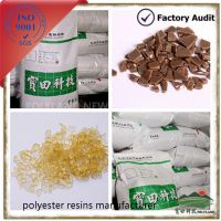 Hybrid polyester resin for powder coating