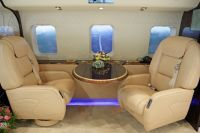 Leather seat covers and wall paneling for aircrafts