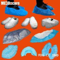 Anti-skid Waterproof Disposable Blue Plastic PP SMS PE CPE Shoe Covers