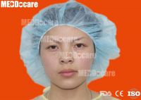 Disposable Non Woven Mop Mob Clip Cap Surgical Medical Round nurse Bouffant Cap