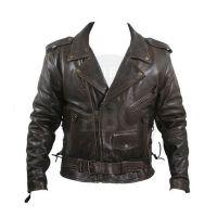 Cowhide Leather jacket high quality leather motorbike jacket