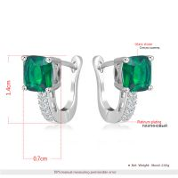 brass material white gold plating glass stone earring ring necklace women's diamond jewelry set