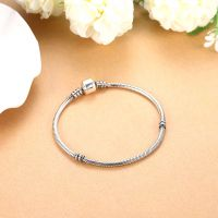 17-20cm Antique finish round snake chain 925 sterling silver DIY bracelets for women