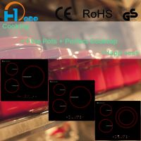 Hot sell in 2017 three burner induction cooker with CE, RoHS