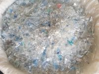 Hot washed 100% clear PET bottle scrap