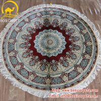 Bosi Carpet Factory Persian red round 5x5ft silk carpets