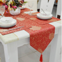 Jacquard Table Runner Table Cover For Wedding Restaurant Table Decoration