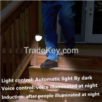 Led Solar mutifunction Sound+body sensors+light control voice-activate