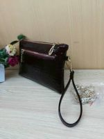 China Wholesale Black Fox Button Clutch Bag