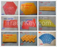 Decorative Rubber PU Concrete Stamp Mold Mould and Handles With Standa