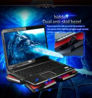 Coolcold Gaming Style Laptop Cooling Pad with 4 LED Light Cooling Fans