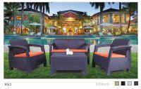 Plastic Rattan Set Sofa-Rs1