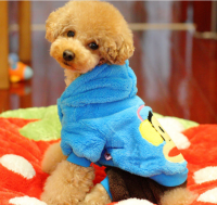 Velvet fashion dog cloth for winter outdoor and decoration