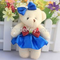 12pcs/lot 11cm Baby Soft Mini Teddy Bear Toys For Children Plush Doll
