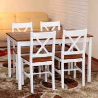 5PC Pine Dining Set