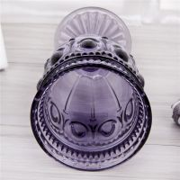 Kingstone purple glass goblet