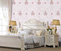 "Brand \""Qiteli\""seamless wall fabric wallcloth textile wallpaper wallcovering european style plain embroidery"