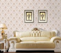 """Brand """"Qiteli""""seamless wall fabric wall cloth textile wallpaper plain embroidery for decoration"""