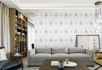 "Brand ""Qiteli""seamless wall fabric wallcloth textile wallpaper wallcovering european style plain embroidery"