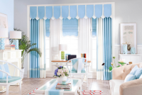 Brand curtain kits curtain cloth and accessories trcak, simple style modern