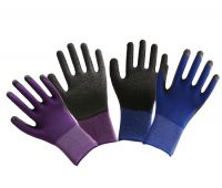 13G polyester liner with black Latex,crinkle finish, palm coated