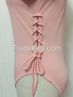 Sexy Pink Long Sleeve Bodysuit