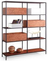 SHIMING FURNITURE MS-3503 wooden showcase with iron frame