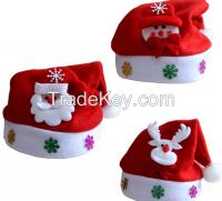 Christmas applique cartoon hat Christmas hat Cartoon hat Arts and Craf