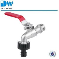Brass level handle bibcock with hose adaptor