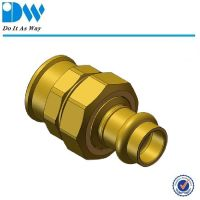 brass press pipe fittings couplings