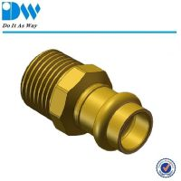 brass press pipe fittings couplings
