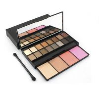 blush and eyeshadow palette with brush makeup set
