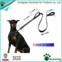 Durable reflective double handles dog training leash made with high quality nylon
