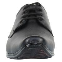 IZAPO Man's Black Formal with Laces Sharp shoes