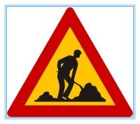 Greece road traffic warning sign, Greece road traffic warning signal