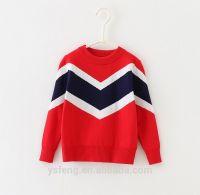 Fashion Color Patchwork Children Sweater Baby Boy Sweater Designs
