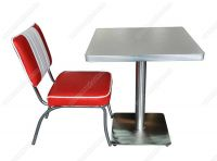 Wholesale retro American 1950s diner table and chair furniture set, retro 50s restaurant table furnture set