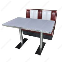 Class Retro American 1950s diner table and booth furniture set, retro restaurant dining 50s table and booth set