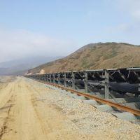 Displacing the belt conveyor