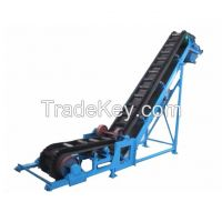 Large inclination belt conveyors available