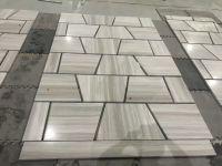 wooden grain marble tiles