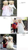 2017 HOT wedding gift plush teddy bear handmade