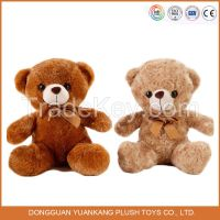 SA8000 factory Hot sell cute brown color plush soft teddy bear toy