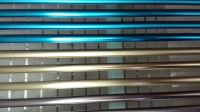 Anodized aluminum profile in colors