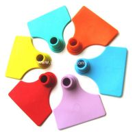 Single Rfid Ear Tag With Plastic Pin TPU Animal Ear Tag