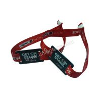 Festival custom active uhf RFID woven fabric wristbands
